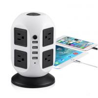China 2 layer vertical power extension sockets, 8 outlets+4USB ports,US/UK/EU/Asia/South Africa plug available wholesale