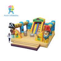 China Giant fun children bouncy Pirate Ship Inflatable Playground equipment wholesale