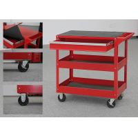 China 32 Inch Color Customizable Metal Tool Cart On Wheels With Drawer And 2 Trays wholesale