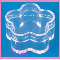 China 5g Flower Quincunx plastic empty clear jar nail art tool cosmetics container wholesale