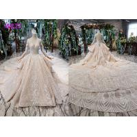 Buy cheap Tulle Wedding Bridal Ball Gowns Long Sleeves V Neckline Lace Applications from wholesalers