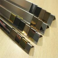 China Brushed Finish Black Stainless Steel Angle U Shape Trim 201 304 316 wall ceiling door frame wholesale