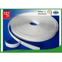 China 12mm white hook and loop adhesive tape without edge , 25m per roll wholesale