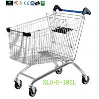 China Portable Metal Chrome Plated Disabled Shopping Trolley For Hypermarket 180 Litre wholesale