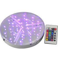 ROHS UL Multicolor Round Led Light Base Waterproof For Event Party , IR Remote Manufactures