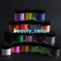 China Jumbo Size 18 Color Acrylic Powder Nail Art UV Powder Glitter 3D Liquid Deco Kit wholesale