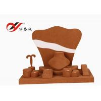 China Shop Counter Microfiber Jewellery Props Display Khaki Color Simple Design wholesale