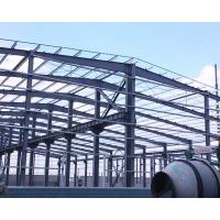 China Single Storey Metal Warehouse Structure / Steel Buildings With Overhead Crane on sale