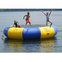 Quality 4m bule and yellow water trampoline, inflatable water games trampoline for sale
