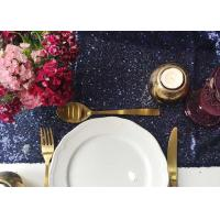 China Bulk Fancy Fabric Table Runner , Dining Table Cloth Mats Customized Size wholesale
