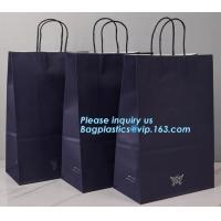 China Custom coloured square bottom paper carrier bag with rope handle,China printing factory plastic shipping mailing bag pac wholesale