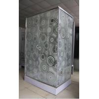 China shower cubilce 5m door thickness Corner  square shower stall stripe glass wholesale