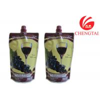 China Food Grade Self Standing Spouted Plastic Pouches For Liquids Wine wholesale