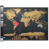 China Large World Scratch Map Poster with Country Flag Scratch Off - Includes Keychain Scratcher wholesale