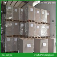 China 500gsm 550gsm Uncoated Duplex Card Paper Board With Grey Back/double side grey board wholesale
