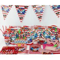 China Kids Birthday Party Decoration Set Pirate Theme Party Supplies Baby Birthday Party Pack wholesale