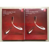 China Adobe Acrobat Pro DC For PDF Graphic Design Software Original DVD With Retail Box wholesale