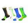 China Spandex / Elastane Green Athletic Basketball Socks With Anti - Bacterial / Anti - Slip Materials wholesale