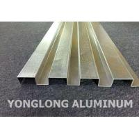 China RAL Colour Powder Coated Aluminium Extrusions / Curtain Wall Profile wholesale