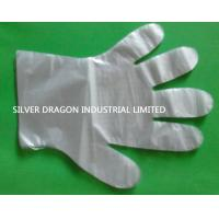 China Clear embossed HDPE disposable gloves with sizes of S,M,L wholesale