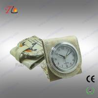China Folding mini fancy desk alarm clock and travel alarm clock with moscow building printed on sale