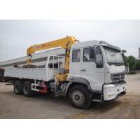 China 10 Wheels 10T Truck Bed Mounted Crane Straight Boom Q235 Carbon Steel Box Material on sale