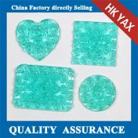 China resin stone,resin square rose flower stone for accessory,free sample for square resin stone on sale