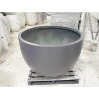 China Factory direct sales light weight outdoor large round fiberglass flower pots wholesale