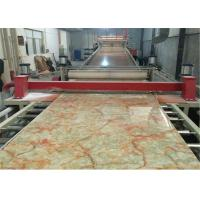 China PVC Faux Marble Sheet Production Line CE , PVC Marble Sheet Making Machine / Plastic Sheet Extruder wholesale