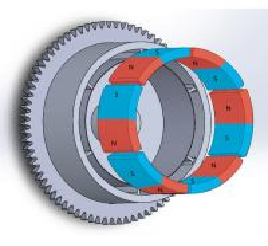 China Durable Customized Flywheel Arc Shaped Segment Ferrite Magnet wholesale