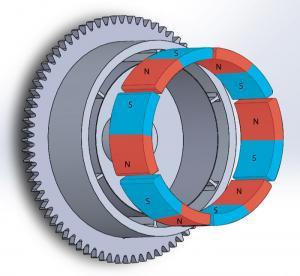 China Durable Customized Flywheel Arc Shaped Segment Ferrite Magnet R55.55 x r48.5 x W50 x L29 wholesale