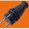 China 2P+E 16A 250V~TPE rubber Black  EU Germany standard  Industrial power plug(P6051) wholesale