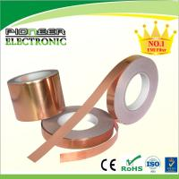China Conductive Acrylic Adhesive RF Shielding Copper Foil 25mm / 50mm Width on sale