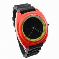 China Hot-sale Promotional Unisex Silicone Watch, Modern and Western Style wholesale