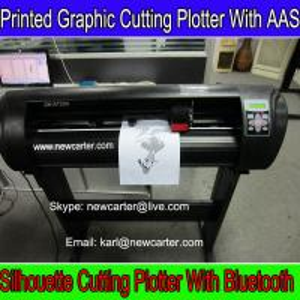 China Automatic Contour Cutter Plotter Printed Label Cutting Machine Smart Vinyl Sign Cutter 24 wholesale