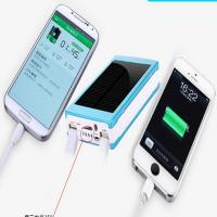 Buy cheap 15000mAh solar power bank rohs solar cell phone charger portable solar charger from wholesalers