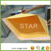 China Gold Yellow Kraft Paper Mailing Envelope/ Shock Proof Bubble Padded Kraft Mailing Bag for express on sale