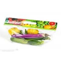 Eco Friendly Clear Plastic Bags Fresh Fruit With Handle Zipper Gravure Printing