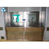 China Stainless Steel Hospital Air Filter Hand Basins With Cabinets For 2 Person wholesale