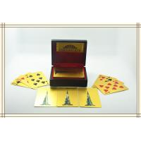 China Customize 24K Karat Gold Plated Playing Cards with Wood Gift Box and Certificate wholesale