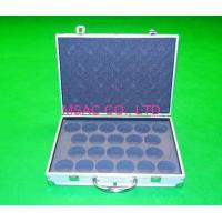 China Gray EVA Aluminum Equipment Carrying Case With Lock , Silver ABS Panel wholesale