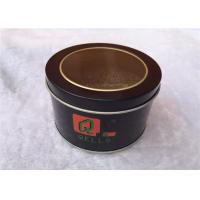China Circle Metal Tin Box Storage For Cookies , Tin Cylinder Container Eco Friendly wholesale