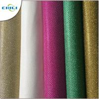 Quality Genuine Glitter Leather Fabric , Glitter Cotton Fabric For Handbags 1mm Thick for sale