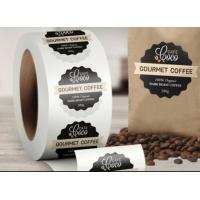 China Custom Logo Self Adhesive Labels , Custom Roll Label Stickers For Food Coffee Package wholesale