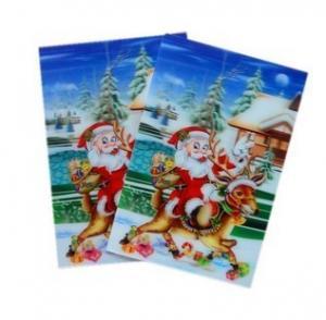China PLASTIC LENTICULAR high quality 3d lenticular christmas cards animation cards lenticular printing on sale