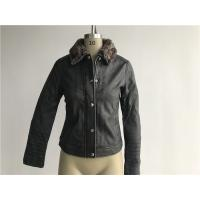 Quality Levis Ladies' Charcoal Pleather Jacket With Detachable Sherpa Collar LEDO1741 for sale