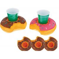 Quality Donut Inflatable Pool Drink Holders , Floating Beverage Holder 0.18 0.2mm Thick for sale