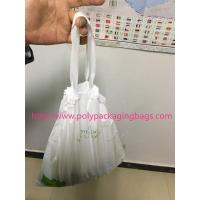 HDPE / LDPE Clear Drawstring Plastic Bags For Supermarket / Hospital