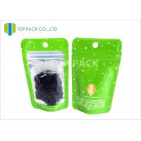 China Laminated 120 micron Coffee Packaging Bags / Zip Lock resealable foil pouches wholesale