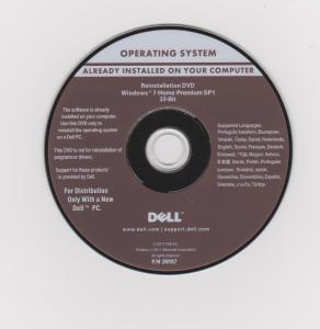 China DELL Microsoft Office windows 7 home premium SP1 DVD 32 bit / 64 bit wholesale